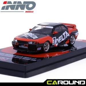 이노64 1:64 닛산 스카이라인 GTR R32 No.7 DELTA Hong Kong Classic Movie Car 1995